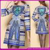 Newlest 100% Polyester-materielle Frauen-Form-Herbst-Winter-Druck-Kleider 2014 (C-194)