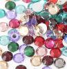 Rhinestone de cristal da parte traseira lisa de Swaro dos grânulos Ss12 de vidro (FB-ss12 coloridos)