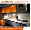 Orange und graue Lack-Tür täfelt modernen Küche-Schrank
