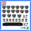 16CH DVR 16PCS Dome Camera Security System