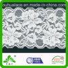 Elegantes Big Flower Style Elastic Lace Fabric für Womens Dresses