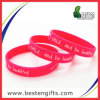 Form Custom Silicone Bracelet mit Printing Logo