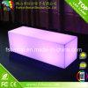 LEDの長い正方形のベンチ