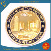 Moedas dos arredores do presente/cidade de /Souvenir do ouro do desafio feito sob encomenda/polícia