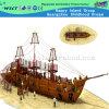 Preço competitivo Parque Infantil pirata de madeira Navio Playground (HD-5401)