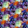 Impression de Digitals de tissu en soie de mode (0816)