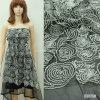 Engranzamento de Polyeser com as telas do bordado do círculo do algodão a formar ou o vestido de noite