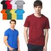 T-shirt courant de sport occasionnel solide de coton pour les hommes