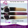 Ombre colora i capelli della parte superiore piana della cheratina