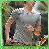 T-shirt bon marché de blanc de la gymnastique 2015 pour les hommes