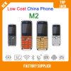 El teléfono M2 de China del bajo costo con Bluetooth y la cámara, teléfono móvil, SIM dual se dobla teléfono celular espera