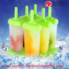 Molde plástico del Popsicle de la crema del estallido del hielo de la manera 6in1