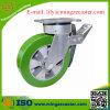 Elastische PU-Hochleistungsbremsen-Fußrolle
