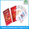 Tarjeta que juega de papel de la impresión, tarjeta de papel modificada para requisitos particulares del póker, juego de tarjeta de tamaño del póker