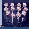 Prises acryliques de stand de bruit de gâteau rond