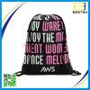 Sac de sac à dos de cordon de cordon de logo de polyester de la promotion 210d plein