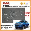 As guarnições da janela para as guarnições da janela da porta dos automóveis de PARA dos acessórios do cromo de Toyota Hilux Revo que moldam a janela plástica do carro da tira introduzem jogos do corpo de Hilux da decoração