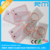 Cartão desobstruído de Cr80 RFID NFC 13.56MHz/transparente Ultralight do PVC