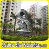 Grande sculpture faite sur commande en jardin en métal d'acier inoxydable