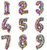 Neue u. modische Qualitäts-Digital-Zahl-Folien-Ballone