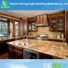 Dessus beige de cuisine/salle de bains de pierre de quartz de couleur contre-