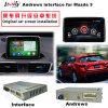 Surface adjacente androïde de navigation de véhicule pour la navigation de contact de la mise à niveau Mazda3, WiFi, BT, Mirrorlink, HD 1080P, carte de Google, jeu Stor