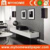 Diseño blanco y negro abstracto del papel de empapelar