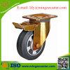 Roda de borracha elástica do rodízio do freio com rolamento de esferas