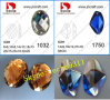 Vlakke Back Bergkristallen Crystal Stones (kan twee gaten maken)