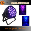 diodo emissor de luz PAR Can Stage Light de 18*17W RGBWA+UV Indoor