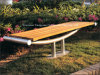 Banco al aire libre de madera plástico promocional del jardín de los muebles