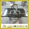 Ouro de Portoro/parte superior preta da vaidade do mármore da flor do ouro/parte superior do banho