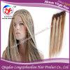 Волосы 100% Remy Weave человеческих волос Silk прямые бразильские с цветом рояля (HSTB-A053)
