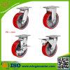 Hochleistungsrot PU-Fußrollen-Räder