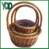 자연적인 색깔 Handmade 등나무 바구니