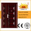 Trappes en acier décoratives de fer travaillé de porte (SC-S173)