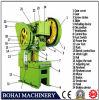 Machine de presse de puissance de J23-100t, poinçonneuse de plat, Ouvrir-Type presse de puissance inclinable J23-100t