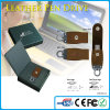 2015 Life Warranty Leather USB Stick 64GB with Customized Logo and Package