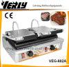 De Apparatuur van het kooktoestel, de Elektrische Dubbele Maker van de Sandwich, Rooster Panini (veg-882A)
