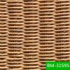 2015 최신 판매 마호가니 손에 의하여 길쌈되는 전천후 플라스틱 배치 (BM-31595)