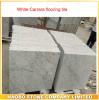 De witte Marmeren Tegel van de Tegel van de Bevloering van Carrara