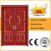 Doble entrada de la hoja sólida puerta de madera (SC-W065)