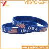 Kundenspezifischer USA-Markierungsfahnen-SilikonWristband, GummiWristband