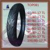 Schlauchlos, Reifen 60/80-17tl, 70/80-17tl, 80/80-17tl, 90/80-17tl, 60/90-17tl, 70/90-17tl, 80/90-17tl, 100/80-17tl des ISO-Nylonmotorrad-6pr