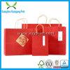 Kraft Bag Impressão vermelho Cor personalizada de papel com alça de papel