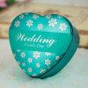 Rectángulo del metal del estaño del regalo del corazón para la boda