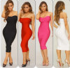 2015 новых Hl Bandage Dress без бретелек Bodycon Dress Celebrity Dress (w-169)