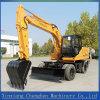 Marca famosa e nuovo escavatore a ruote idraulico pieno con buon servizio