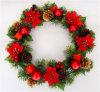 красный украшенный венок рождества искусственного яркия блеска 18 Unlit