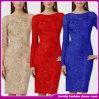 Платье вечера ворота шлюпки вышивки женщин способа длинней приспособленное втулкой (ZZ-20130036)